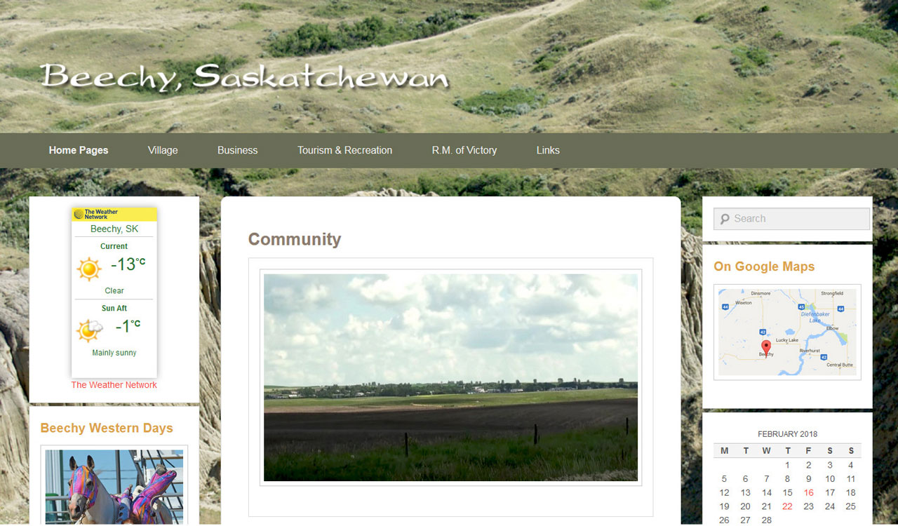 Village of Beechy website by Fireflywebs.ca