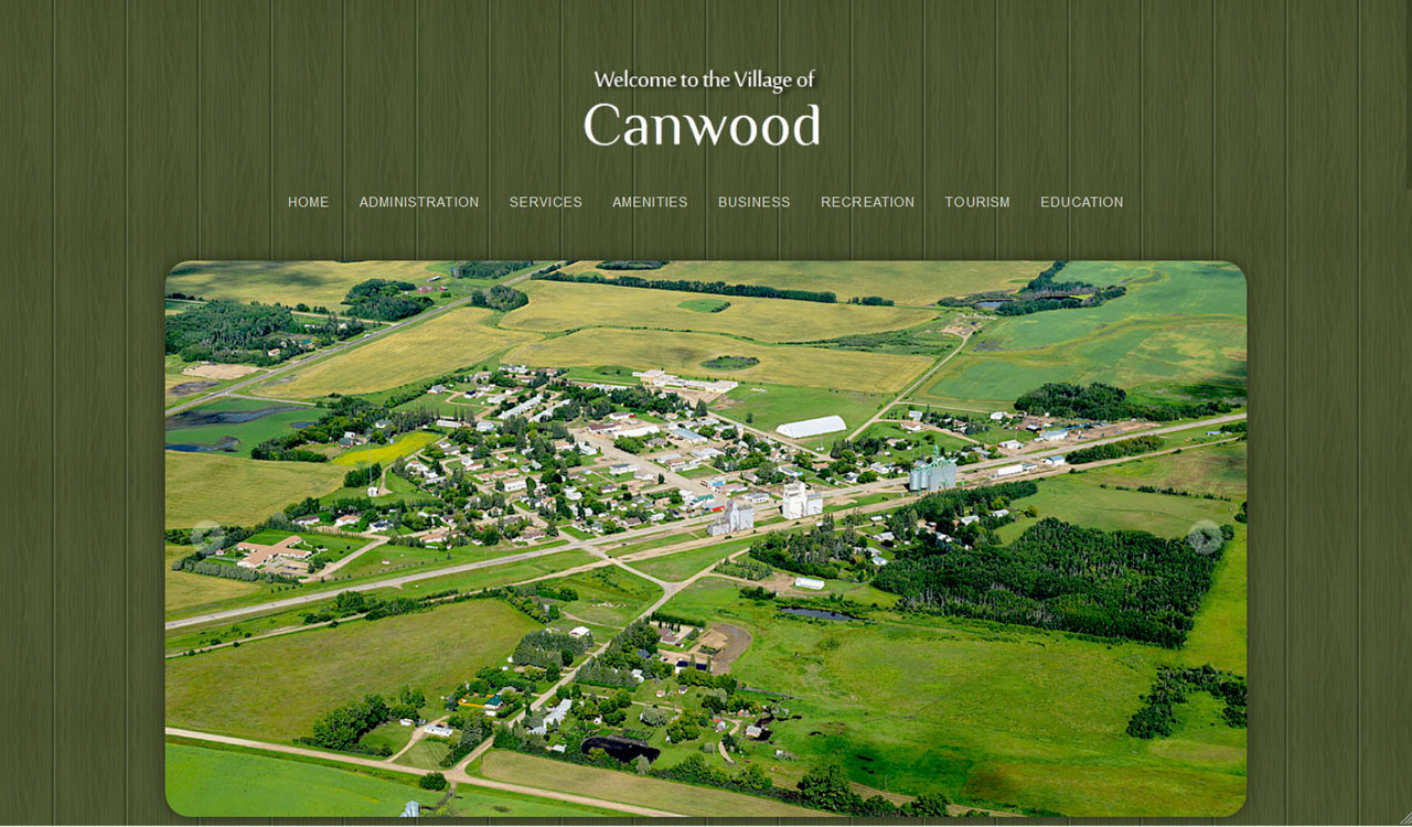 Village of Canwood website by Fireflywebs.ca
