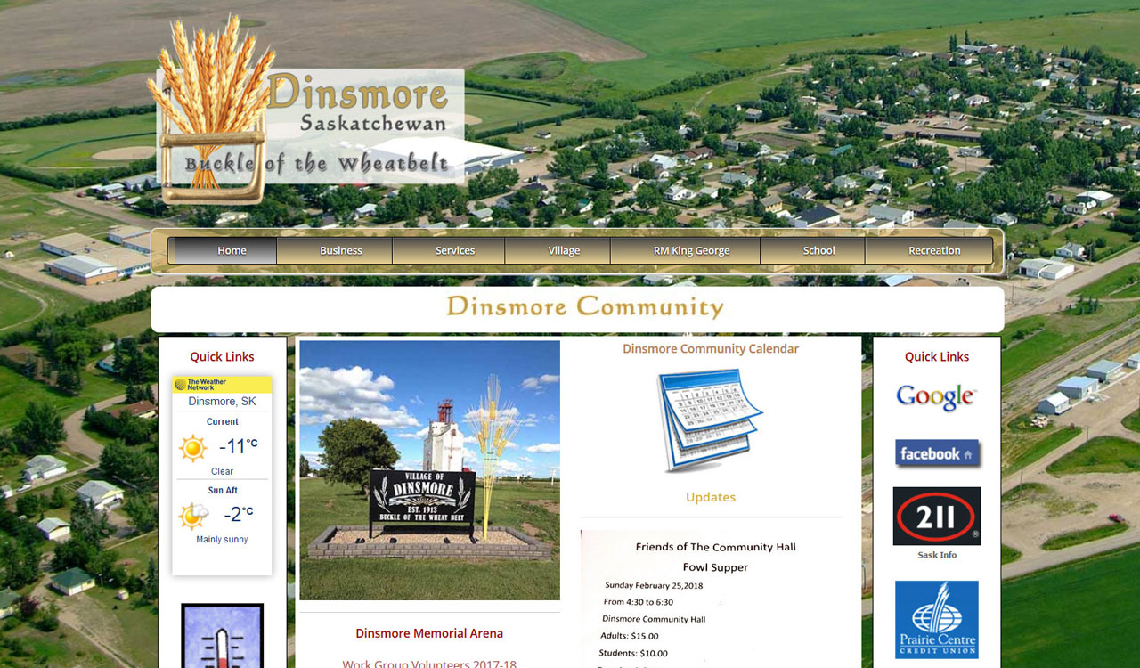 Village of Dinsmore website by fireflywebs.ca