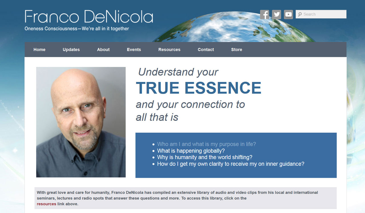Franco DeNicola website by fireflywebs.ca