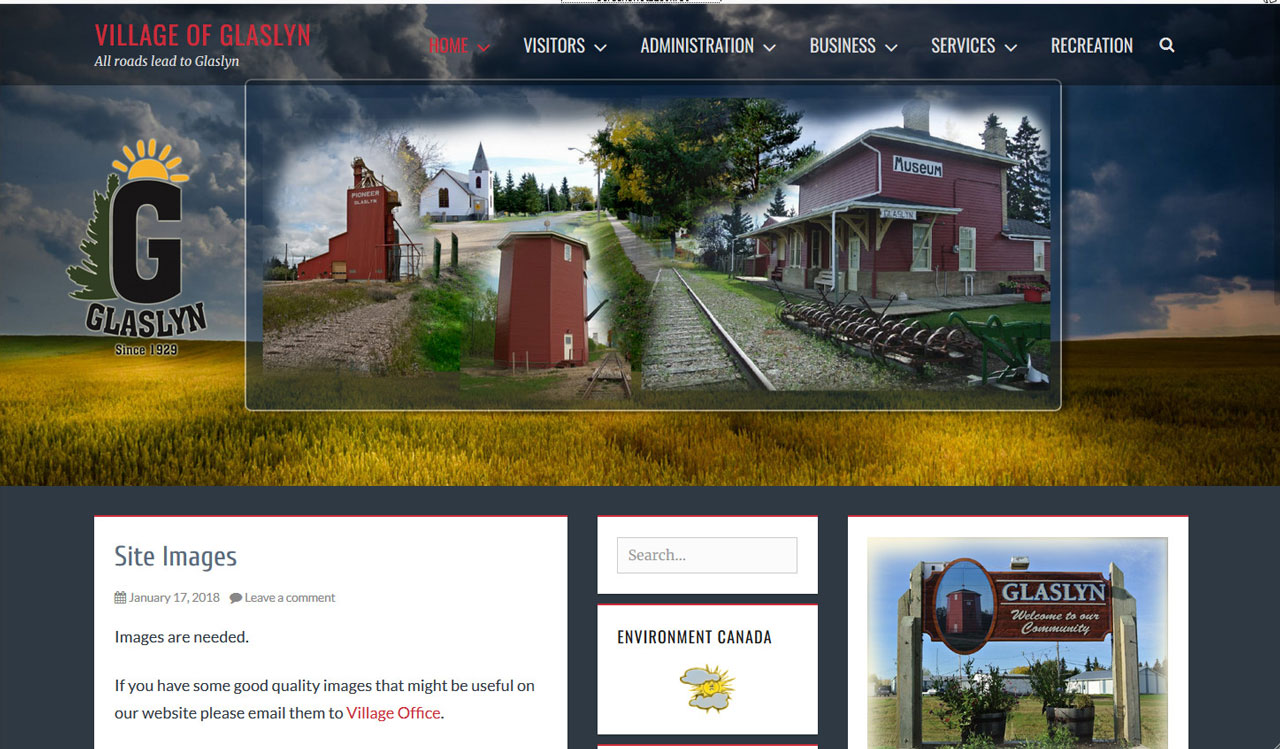 Village of Glaslyn website by fireflywebs.ca