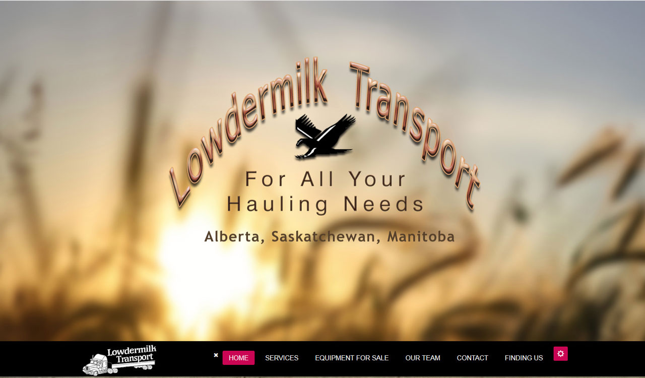 Lowdermilk Transport website by fireflywebs.ca
