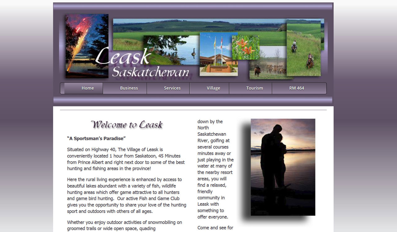 Village of Leask website by fireflywebs.ca