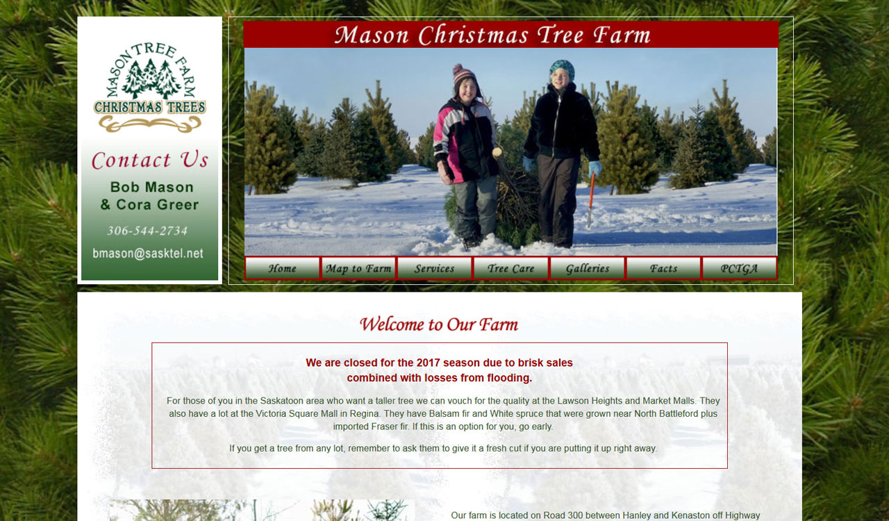 Mason Trees website by fireflywebs.ca