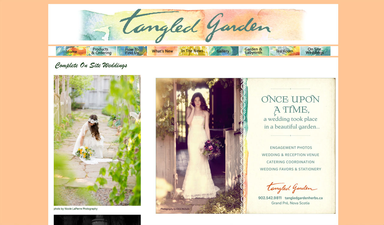 Tangled Garden website by fireflywebs.ca