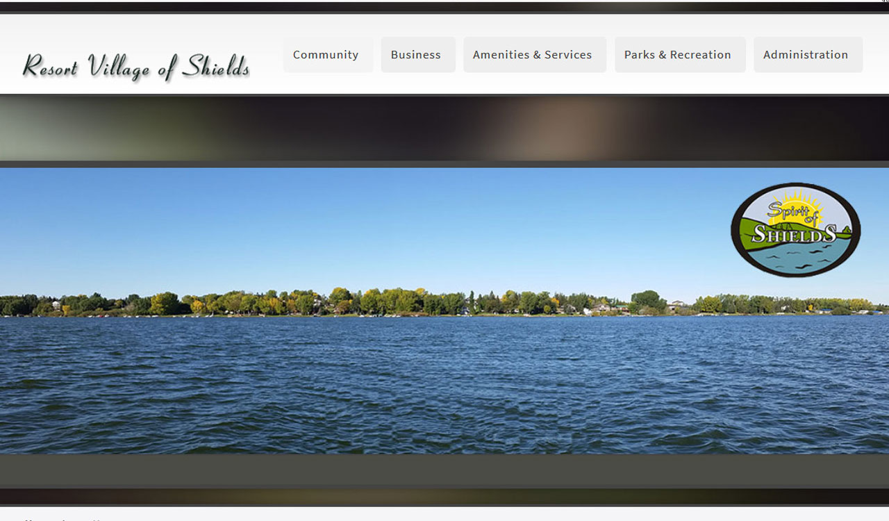 Village of Shields website by fireflywebs.ca